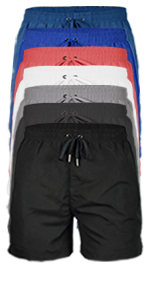 "vbranded men's quick-dry 4"" swim trunks with mesh lining white pink navy blue grey charcoal black"