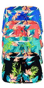 best-selling usa floral trunks short beach sportswear workout diving swim sports apparel women