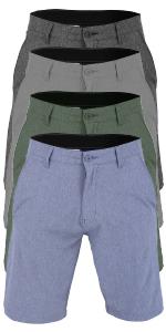 vbranded men's walker quick dry microfiber swim shorts charcoal black grey denim blue dark green