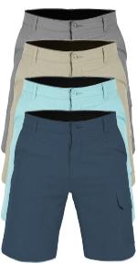 vbranded men's hiker quick dry microfiber swim shorts charcoal grey khaki navy blue aqua green