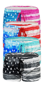 best-selling usa us flag trunks short beach sportswear workout diving swim sports apparel women