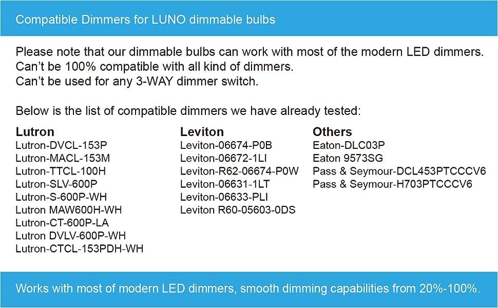 Dimmer list