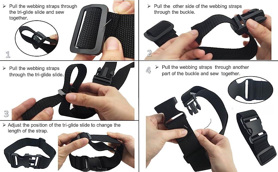 Antique Belt Buckle 8pcs 25mm28mm Adjuster Buckle Tri Bar Buckles Strap Buckle Adjuster Fastener Webbing Notion Handbag Handware