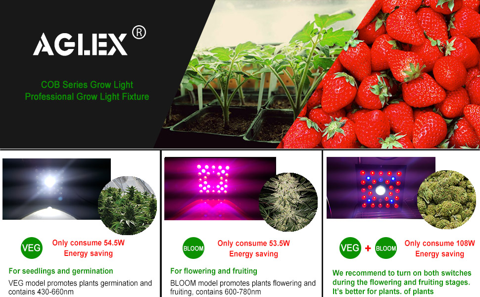 AGLEX COB GROW LIGHT 600W