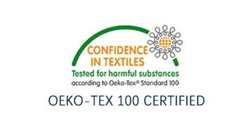 OEKO-TEX 100 CERTIFIED