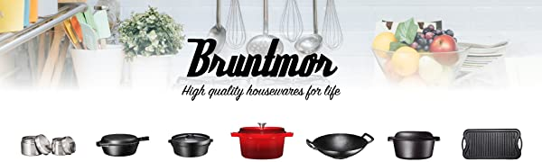 bruntmor cast iron containers dutch ovens griddles