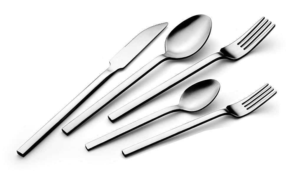 Amazon.com | OXLEY 20 Piece Silverware Set - 18/10 Stainless Steel ...