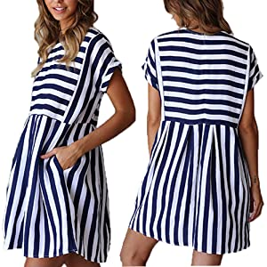 bbed5abad210 ChongXiao Cute Dresses for Women Short Casual Cute Short Sleeve Mini ...