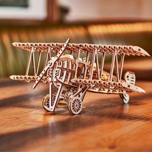 Mechanical Wood Trick wooden 3D puzzle Airplane Construction Set