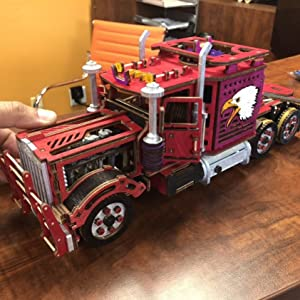big rig toy truck, semi truck, wooden car, wood trick, eco toys, wooden toys