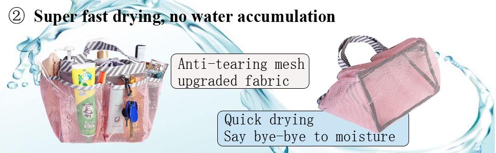 quick dry mesh bath caddy shower