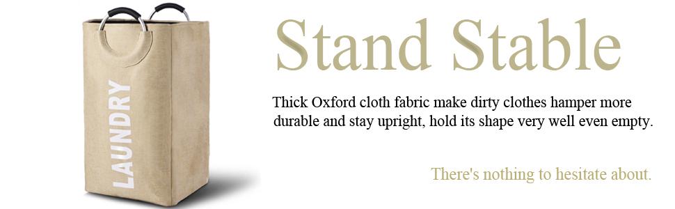 durable upright clothes hamper