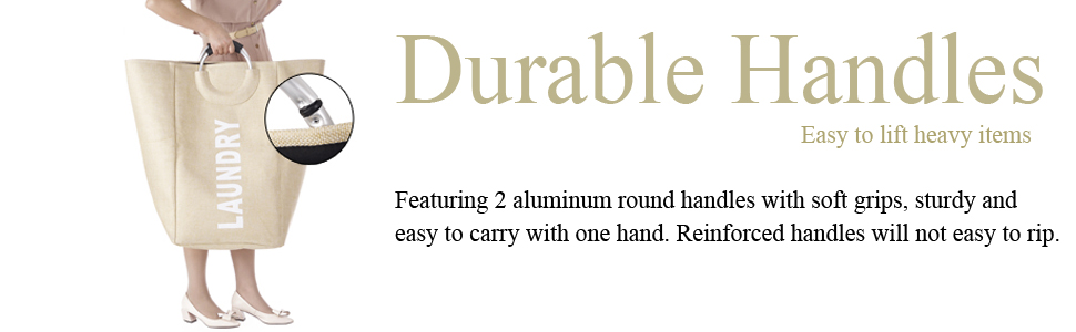 standing washable durable laundry hamper bag