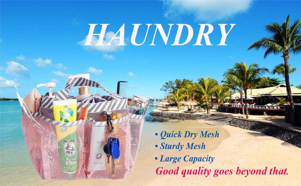 Haundry mesh shower caddy 8 pockets portable