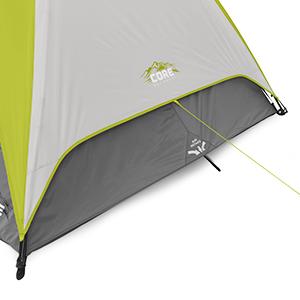 Stay comfortable all season with advanced venting!  sc 1 st  Amazon.com & Amazon.com : CORE 4 Person Instant Dome Tent - 9u0027 x 7u0027 : Sports ...