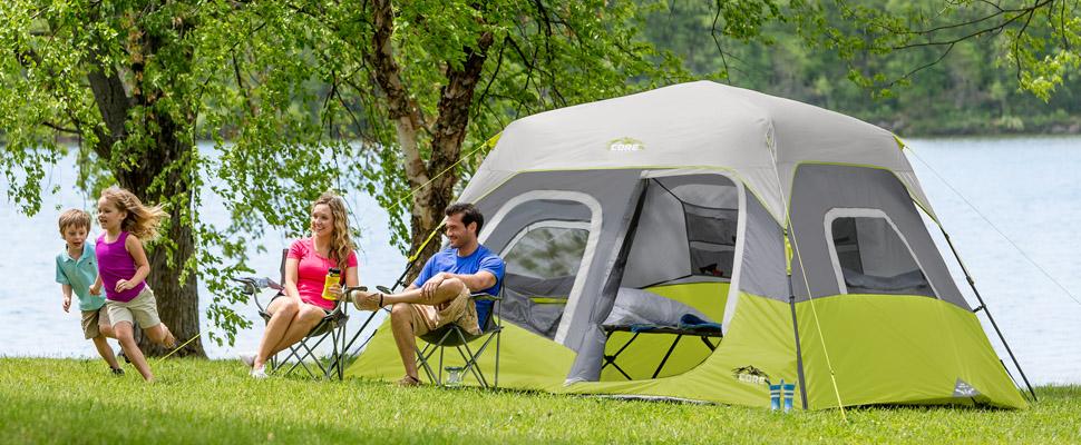 Amazon Com Core 6 Person Instant Cabin Tent 11 X 9