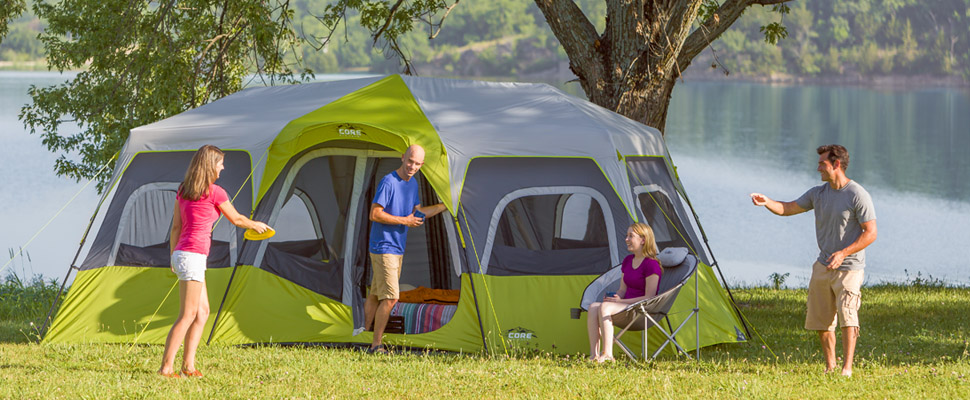 CORE Equipment & Amazon.com : CORE 12 Person Instant Cabin Tent - 18u0027 x 10 ...