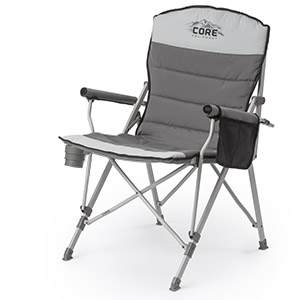 relax in the core padded hard arm chair this cozy chair features padded arms seat and backrest the sturdy steel frame and hard arm design create the - Padded Folding Chairs