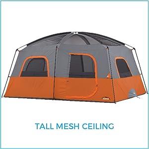 Amazon Com Core 10 Person Straight Wall Cabin Tent 14
