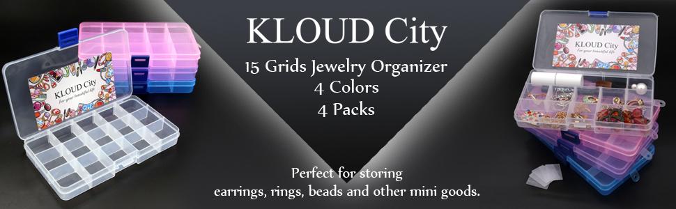 Amazoncom KLOUD City Jewelry Box Organizer 4 Packs Plastic