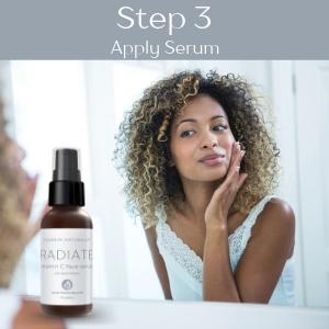 vitamin c hyaluronic acid face serum facial anti aging wrinkle fine lines