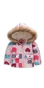 af92a4a29 Amazon.com  EGELEXY Cute Flower Baby Girls Kids Coat Jacket Coat ...