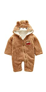 055194ad124b4 Baby Unisex Winter Snowsuit Down Jacket Kids Snow Wear Hooded Puffer  Jumpsuit · Baby Boys Girls Cute Bear Style Baby Romper Winter Hooded Fleece  Lined ...