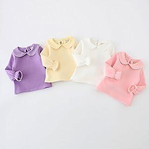 f9ee7f80 Baby Girls Infant Toddler Long Sleeves Thicken Velvet T-shirt Tops Blouse