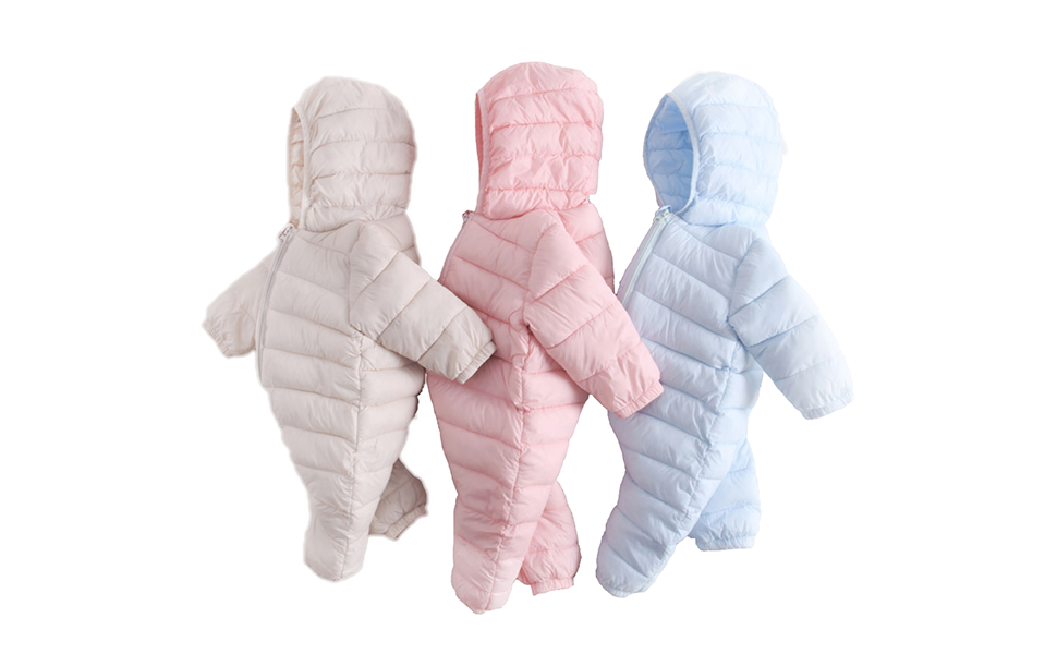 f848753d5cf6d Baby Unisex Winter Snowsuit Down Jacket Kids Snow Wear Hooded Puffer  Jumpsuit