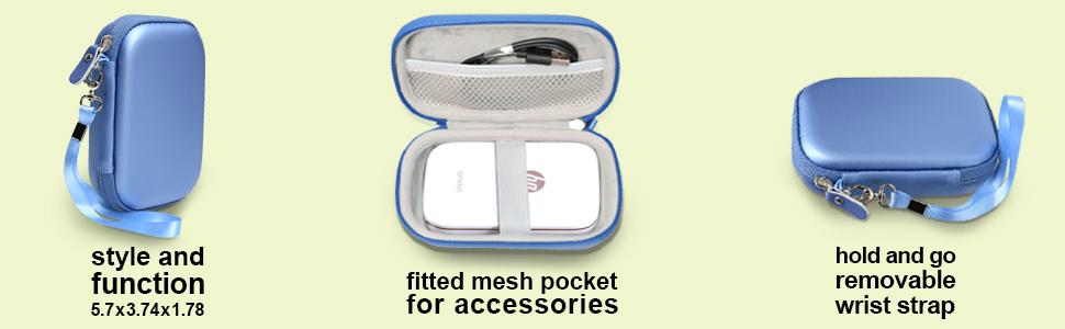 casesack, HP Sprocket Portable Photo Printer, Polaroid ZIP Mobile Printer, case