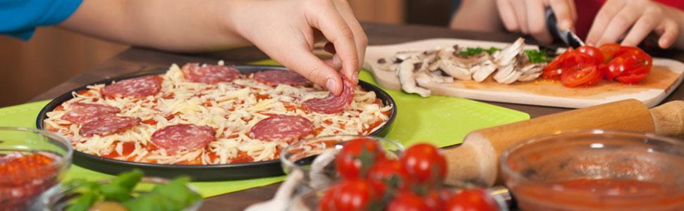 Amazon.com: Bandeja para pizza, plato hondo antiadherente ...