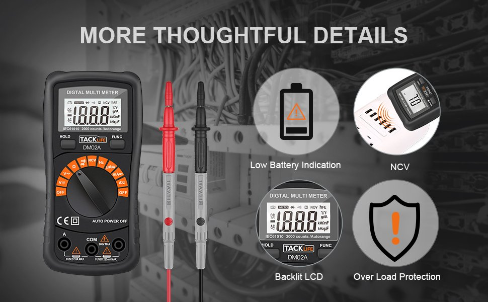 Tacklife's DM02A Classic Digital Multimeter