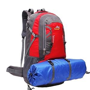 Amazon.com   SMUNIFUR 60L Hiking Backpack for School f2c773656ae3b