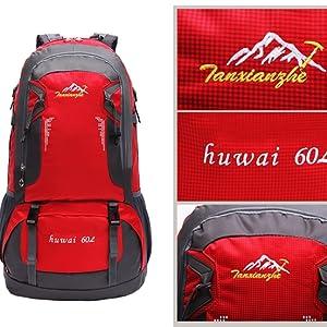 Amazon.com   SMUNIFUR 60L Hiking Backpack Lightweight Travel Daypack ... 1b87021508ab1