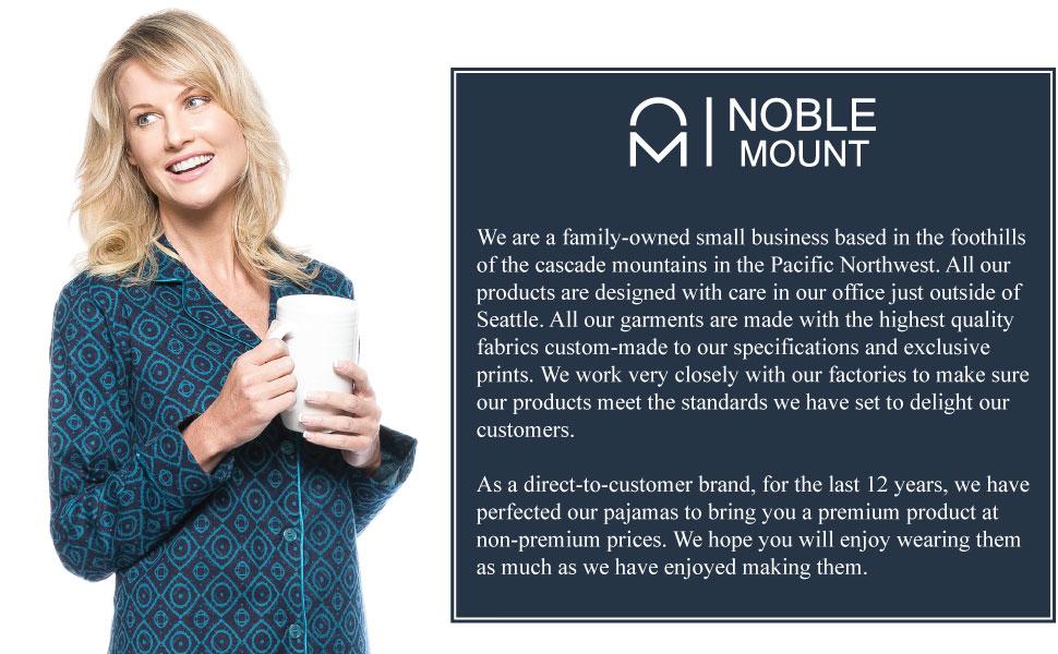 4fcce1d357 Noble Mount Womens Premium 100% Cotton Flannel Long Sleeve Sleep Shirt