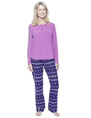 Noble Mount Gift-Packaged Womens Premium Cotton Flannel Loungewear ... 8a3b6608d