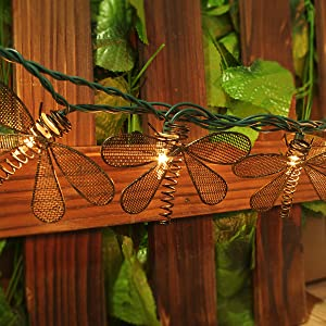 Amazon Com Pansdore Christmas Lights Metal Dragonfly