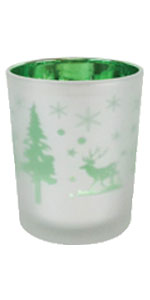 green christmas votive
