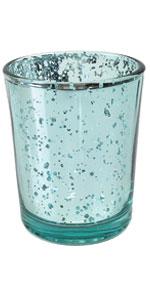 aqua blue votive