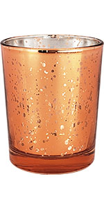Just Artifacts Mercury Glass Votive - Speckled Copper