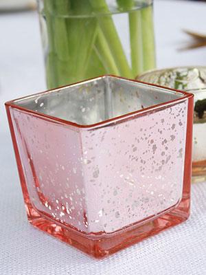 blush square votive