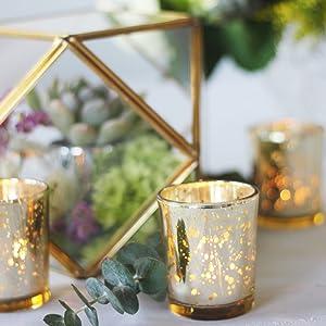 Amazoncom Just Artifacts Bulk Mercury Glass Votive Candle Holder