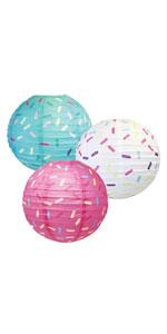 sprinkle paper lanterns