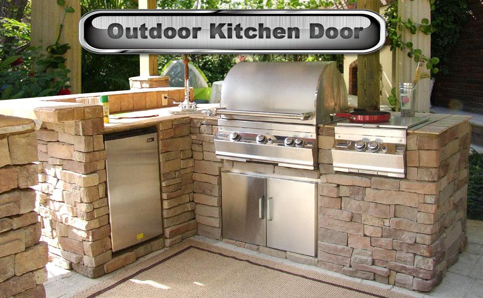 Outdoor Kitchen Storage Seeutek Outdoor Kitchen Doors 14W x ...