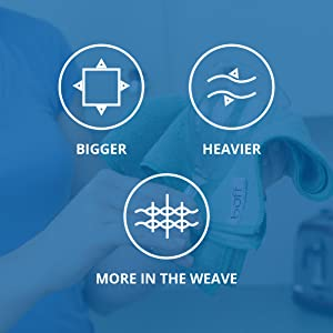 Bigger Larger Plusher Heavier Thicker Microfiber Towels