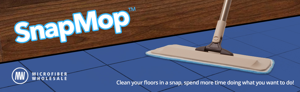Amazon Snapmop Microfiber Mop System Reusable Adjustable