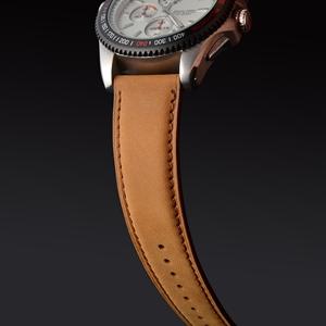 WOCCI watch band strap belt bracelet for men women pin buckle black brown vintage suede matte tan