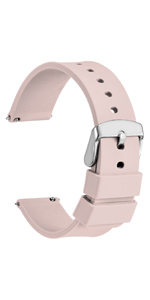WOCCI watch band strap silicone leather buckle bracelet belt for men women pin 18 20 22 24