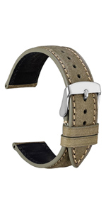 Wocci Watch Bands strap bracelet belt replacement men women black brown buckle tool kit pins leather