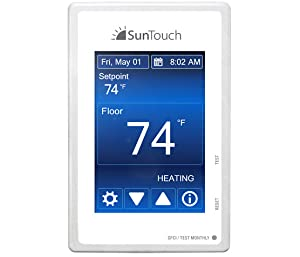 240V Floor Heat Kit 180 sq ft cable adaptable to any layout and adds luxury and comfort to any room under tile//stone includes user-friendly Command Touch Programmable Thermostat SunTouch WarmWire